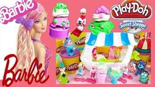 getlinkyoutube.com-Il gelato Play Doh di Barbie Italiano - Giocattoli Come fare i gelati con il Pongo Play doh