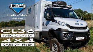 getlinkyoutube.com-Unicat Expedition Vehicle TC36C Iveco Daily 4X4 Carbon Fiber