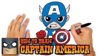 getlinkyoutube.com-How to Draw Captain America (Chibi)- Kids Art Lesson
