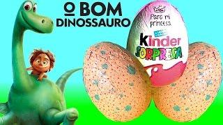 getlinkyoutube.com-Disney O Bom Dinossauro Ovos Surpresa Gigante Kinder Egg Peppa Pig Shopkins Ornamentos de Natal