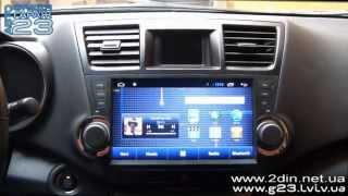 """getlinkyoutube.com-Штатная магнитола для Toyota Highlander (Android 4.2.2) 10"""" экран - GPS навигация Winca S180"""