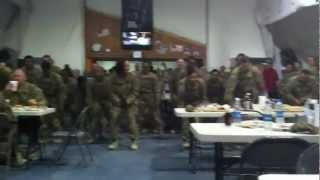 U.S. Soldiers Doing a Flash Mob Dance in Afghanistan