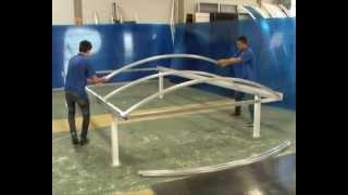 getlinkyoutube.com-Carport Polysolution - montagem  Policarbonato compacta curva - instalação de Policarbonato