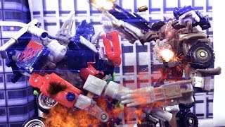 getlinkyoutube.com-Transformers Stop Motion - Megatron's Chaos