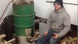getlinkyoutube.com-ROCKET STOVE BOILER!  $200 setup to heat my home and shop!