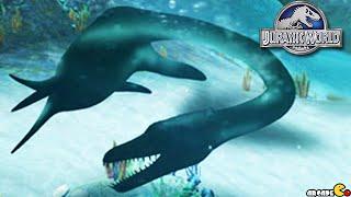 getlinkyoutube.com-Megalosaurus Tournament The Aquatic Park Dino Reveal - Jurassic World The Game