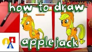 getlinkyoutube.com-How To Draw Applejack My Little Pony