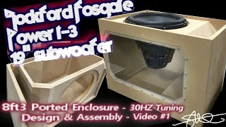 "getlinkyoutube.com-Massive Subwoofer, Massive Ported Box (Build)  Rockford Fosgate Power T3 19"" Plexi Window VIDEO 1"