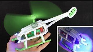 getlinkyoutube.com-Cara membuat helikopter kertas | helikopter listrik