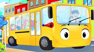 getlinkyoutube.com-Wheels on the Bus Nursery Rhyme | Children's Songs by FluffyJetToys Kids Animation