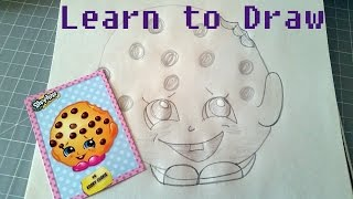 getlinkyoutube.com-Learn to Draw Shopkins Kooky Cookie