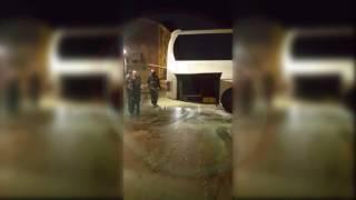 Yolcu otobüsü bir anda alev aldı