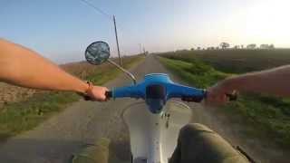 getlinkyoutube.com-Vespa 130 QUATTRINI test  -onboard  GoPro HERO 3+