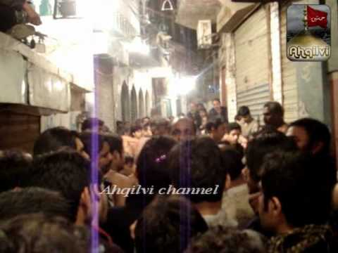 Ansar Party- 20 Safar Chelum Imam Hussain (A.S) Markazi Juloos Taziya At  Mochi Gate 2012 Part-1
