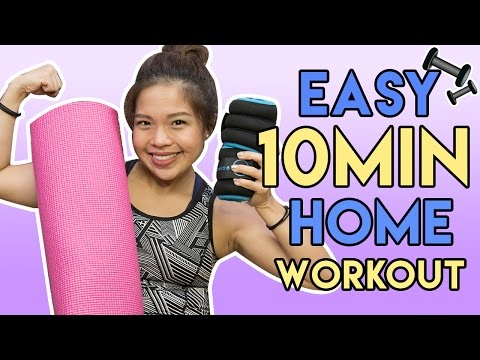 EASY 10 MINUTE HOME WORKOUT| PrettySmart EP: 106