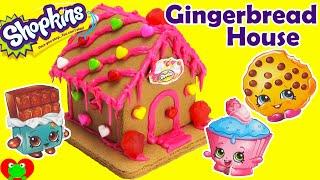 getlinkyoutube.com-Shopkins Gingerbread House Kit Sweets Shop with Kooky Cookie and More