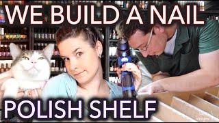 getlinkyoutube.com-How to (sort of) build a nail polish shelf/rack
