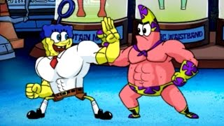 getlinkyoutube.com-Super Brawl 4 - SpongeBob SquarePants - Cartoon Movie Game - New Episodes 2015 HD