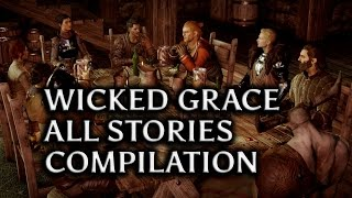 getlinkyoutube.com-Dragon Age: Inquisition - Wicked Grace All Stories Compilation (all Inquisitors+Varric+Cullen)