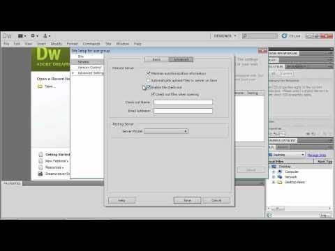 Dreamweaver CS5. Tutorial. Creating your first websaite (2 of 6).wmv