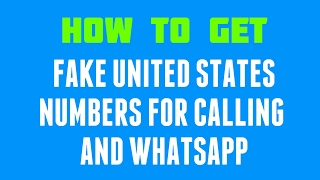 getlinkyoutube.com-How to get a free United States fake number for Calling and WhatsApp!!