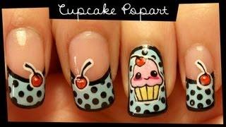 getlinkyoutube.com-Cupcake Popart nail art (no stickers)