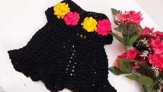 getlinkyoutube.com-CROCHET  FLORAL BABY DRESS-1