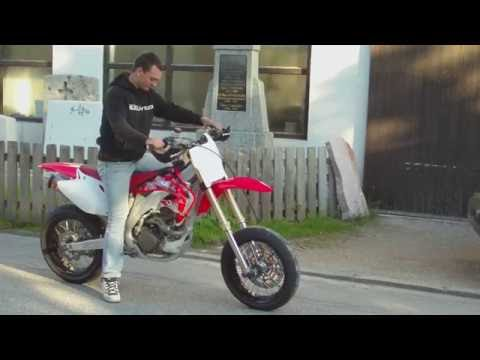 HONDA CRF 450 Akrapovic Slipon SOUNDCHECK Supermoto HD 1080p