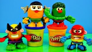 Play Doh Marvel Mr. Potato Head Mashable Superheroes Spiderman Wolverine Hulk How To Playdough Toys