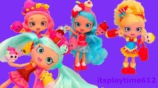 getlinkyoutube.com-Shopkins ✔️Shoppies Dolls Peppa Mint Bubbleisha Jessicake Popette  | itsplaytime612