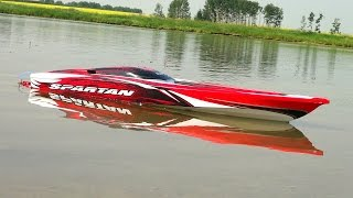 getlinkyoutube.com-RC ADVENTURES - Traxxas Spartan - First Run, 4S Lipo - Radio Controlled Boat