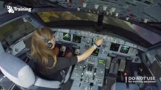 getlinkyoutube.com-Inexperienced girl trying to land A320
