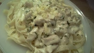 getlinkyoutube.com-طريقة عمل الفوتشيني من مطبخي  How to do Pasta Alfredo from my kitchen