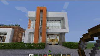 minecraft สอนสร้างModern house3 +สร้างรถ+สอนใช้hamachi