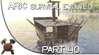 "getlinkyoutube.com-Ark: Survival Evolved Gameplay - Part 40: ""Crazy Boat Ride & Lava Cave!"" (Season 2 w/ Facecam)"