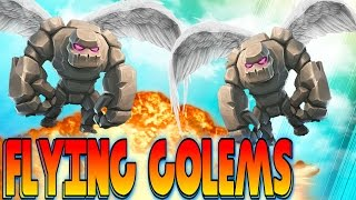 """getlinkyoutube.com-CLASH OF CLANS - FLYING GOLEMS WTF! """"FUNNY MOMENTS+TOWN HALL 10,TH9,TH8 TROOP ATTACK STRATEGY! (NEW)"""