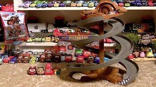getlinkyoutube.com-Pixar Cars Dirt Track Raceway 2014 Radiator Springs Classic Side by Side Spiral Rip Clutchgoneski
