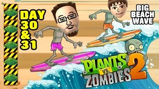 getlinkyoutube.com-Lets Play PVZ 2: Big Wave Beach Day 30 & 31: Endangered Guacodiles