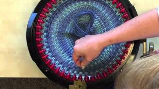 getlinkyoutube.com-Making A Hat in less than 30 minutes on the addi Express Knitting Machine