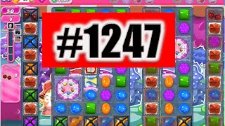 Candy Crush Saga Level 1247 NEW! Complete!