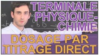 Dosage par titrage direct - Physique-Chimie - Terminale - Les Bons Profs