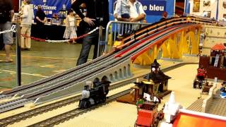 getlinkyoutube.com-Lego train TGV 10233 - horizon express running - Model Rail 2014 - crash TGV