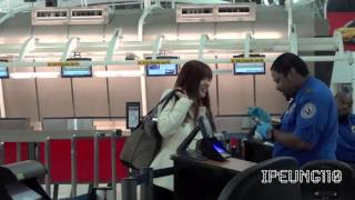 getlinkyoutube.com-[FANCAM] 131105 소녀시대 SNSD : 티파니 TIFFANY at JFK airport leaving NYC USA