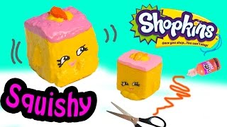 getlinkyoutube.com-DIY Rare Shopkins Season 2 Carrie Carrot Cake SQUISHY TOY Craft Make & Do It Your Self How To Video
