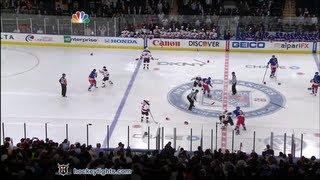 getlinkyoutube.com-Devils vs Rangers start of game line brawl Mar 19, 2012.