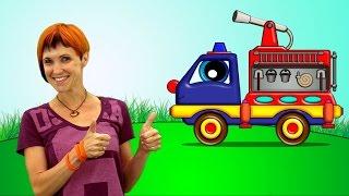getlinkyoutube.com-Coche Helpy y Maria. Camión de Bomberos. Dibujos animados de coches y camiones para niños en español