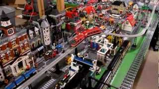 getlinkyoutube.com-Lego 10233 Horizon Express full length train plus bonus crash of monorail 6399 and Maersk 10219