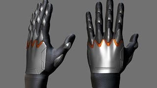 getlinkyoutube.com-Creating Gloves for Characters in ZBrush