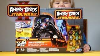 getlinkyoutube.com-Angry Birds Star Wars II - Jenga Darth Vader ! Game !