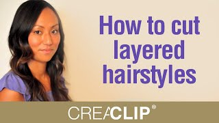 getlinkyoutube.com-Cutting Layers at home - How to cut layered hairstyles